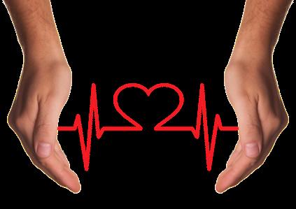 an ekg tracing shaped like a heart
