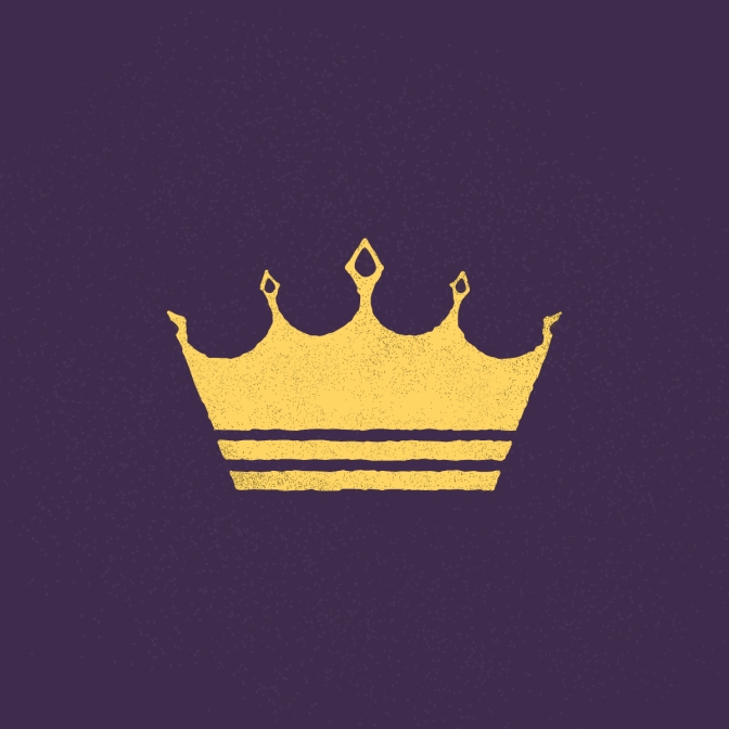 a simple drawing of a crown