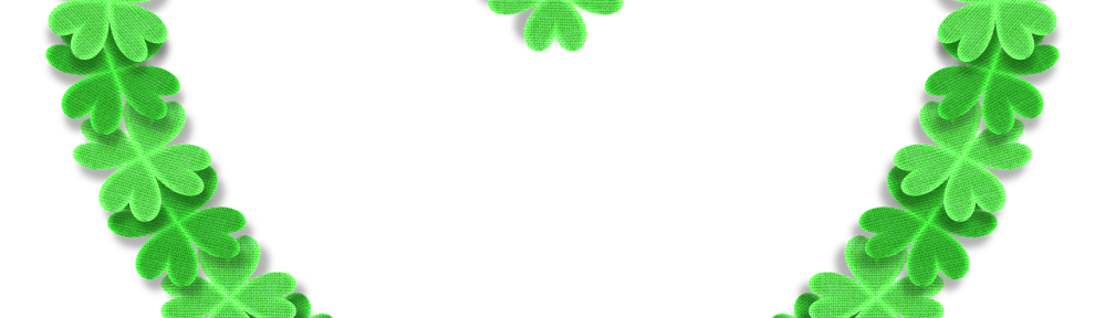 green shamrocks in a heart shape