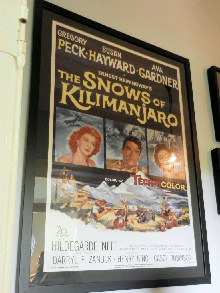 movie poster for THE SNOWS OF KILIMANJARO