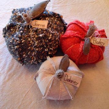 cloth pumpkins