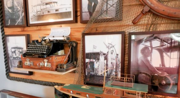 photos of Ernest Hemingway displayed at his Key West home