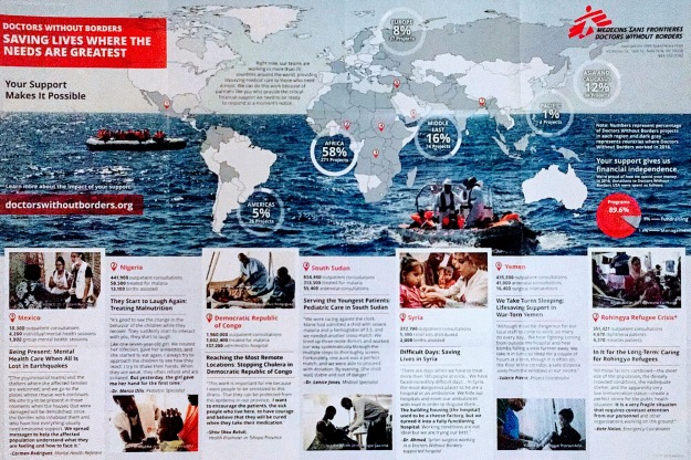 Doctors Without Borders map of activities
