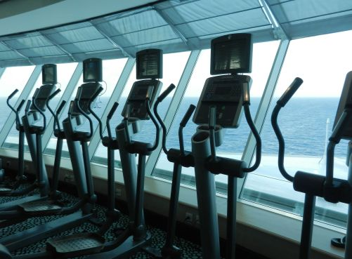 exercise equipment on a cruise ship