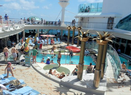 a swimming pool on a cruise shop