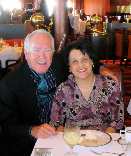 Dr. Aletha and her husband dining