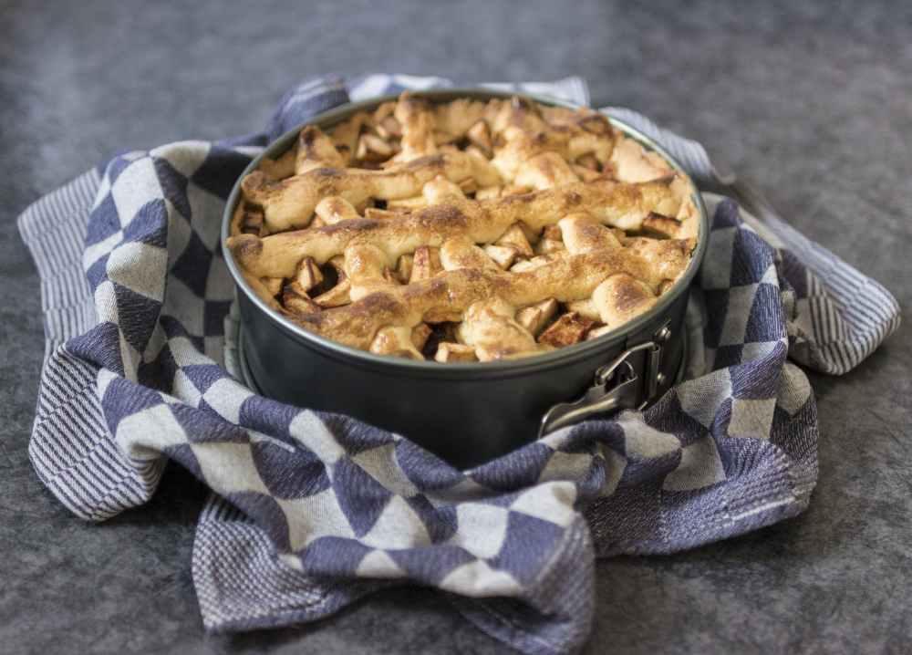 a freshly baked apple pie