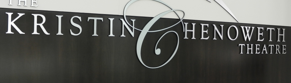 The Kristin Chenoweth Theatre sign