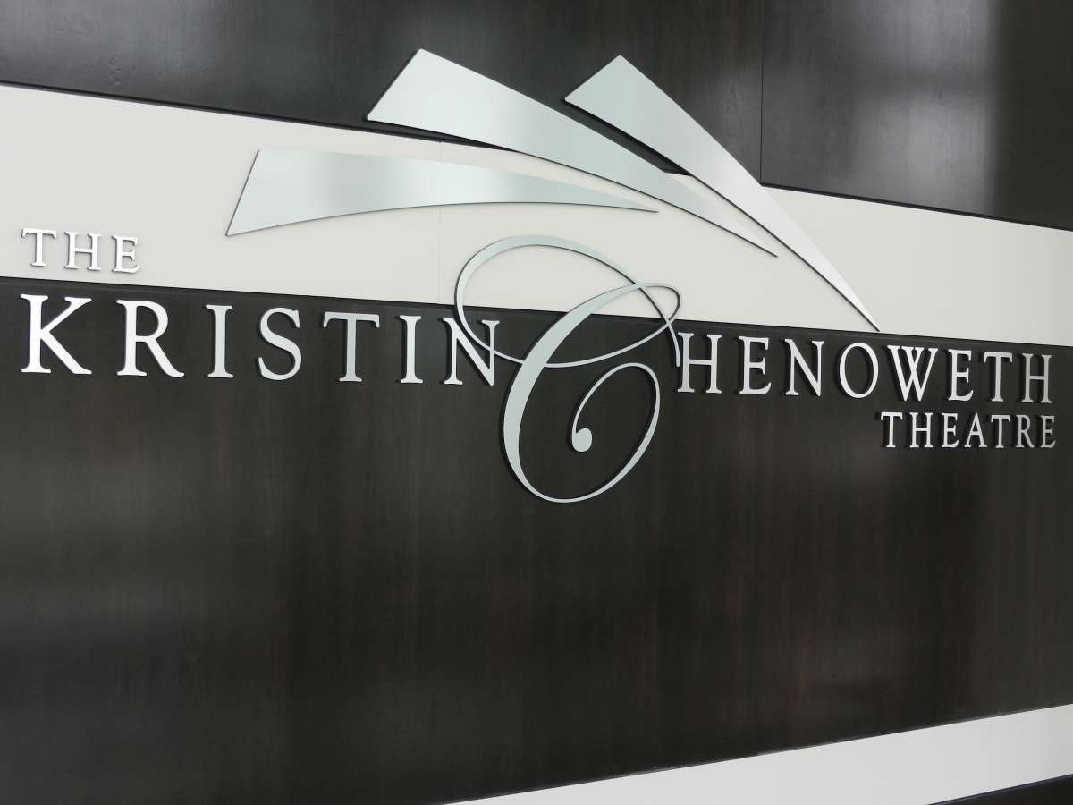 The Kristin Chenoweth Theatre sign