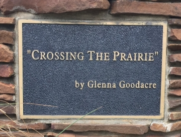 sign-Crossing The Prairie by Glenna Goodacre