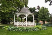a gazebo in a park