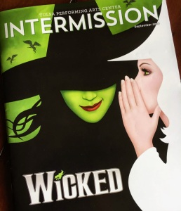 WICKED- cover of a program from the musical