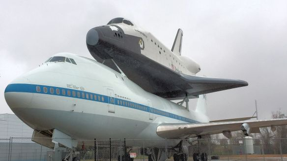Independence, a space shuttle replica, on display at NASA in Houston, TX