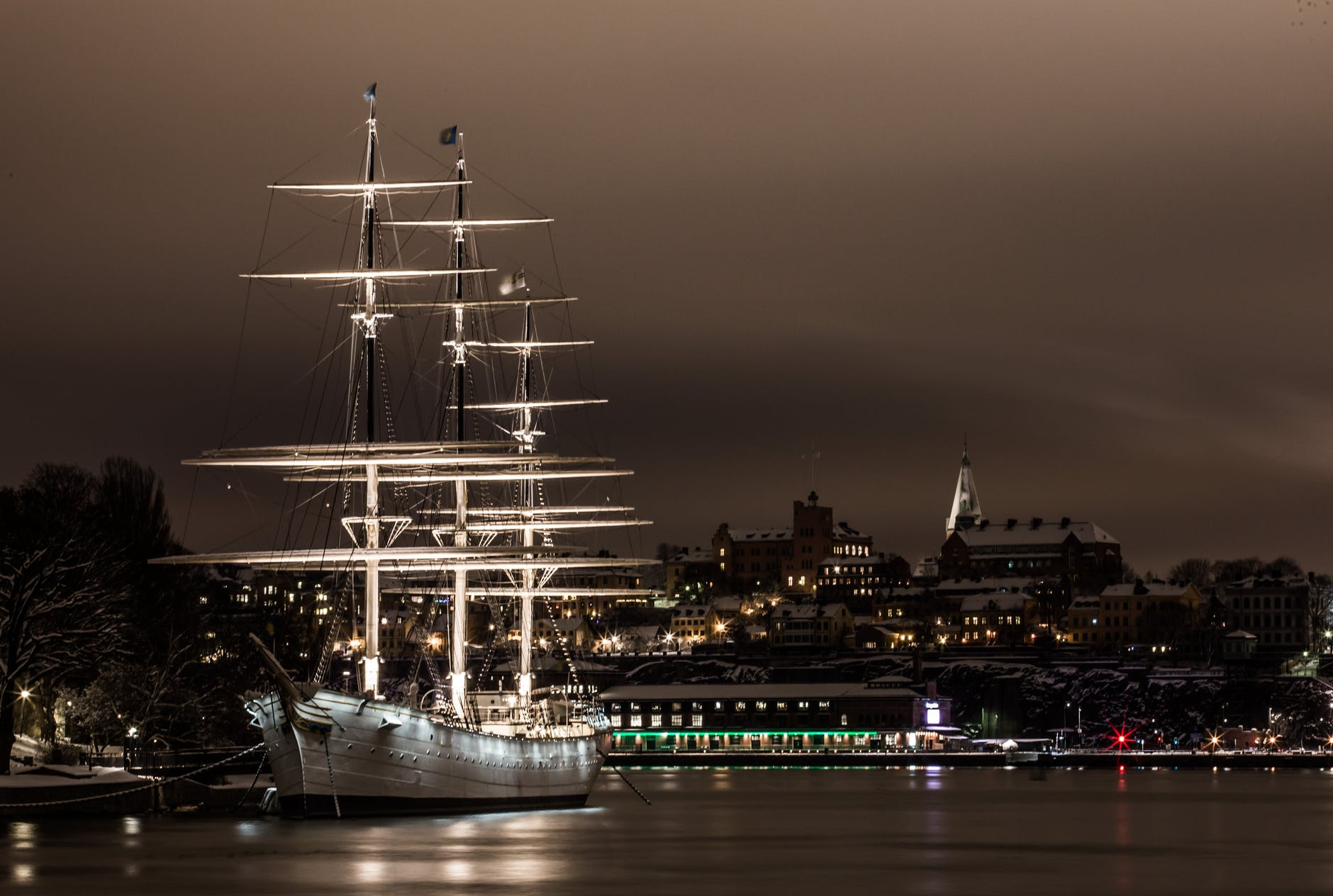 water ship sailboat stockholm