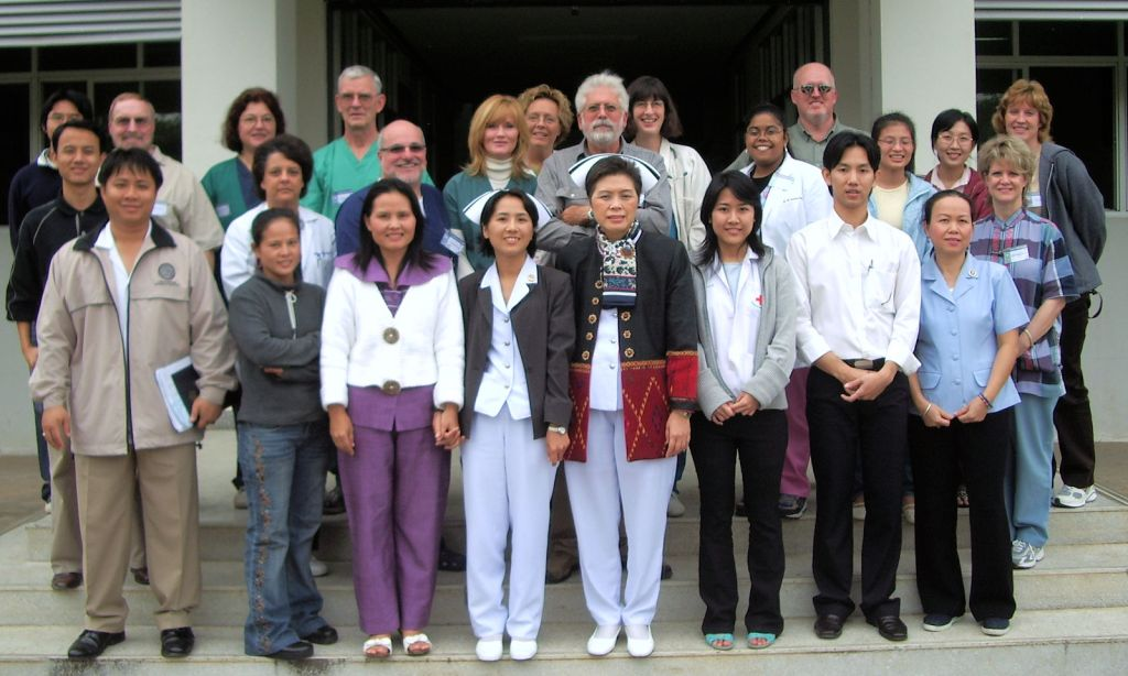 a group of American and Thai healthcare workers