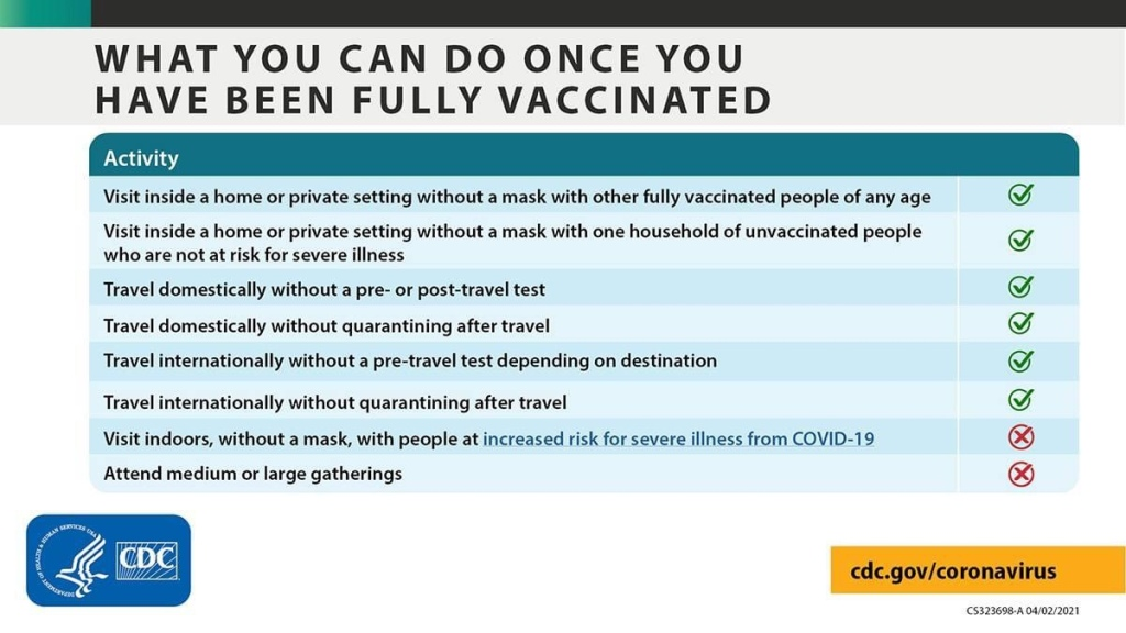fully vaccinated people can travel domestically with pre or post testing