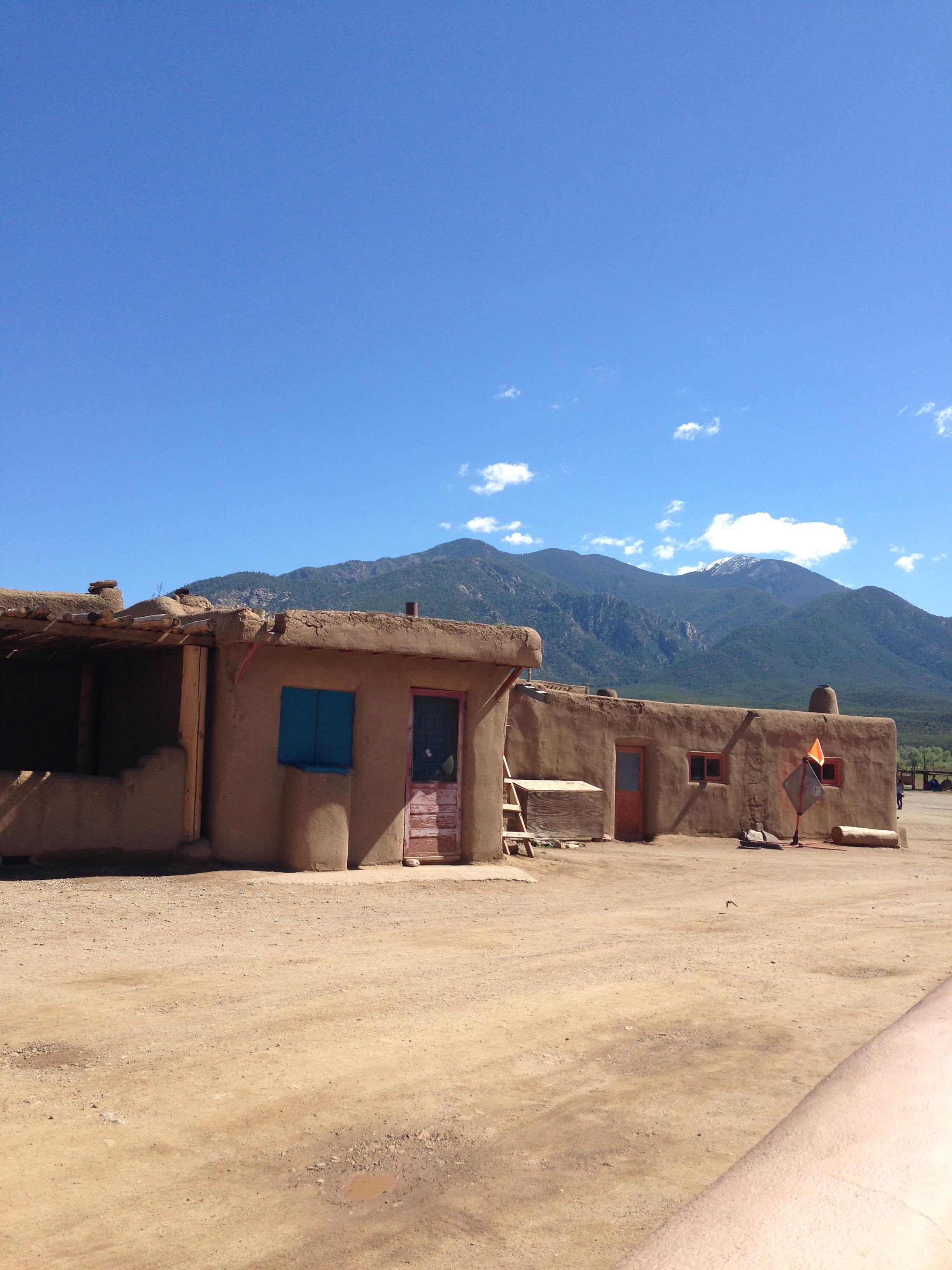 adobe buildings at the Taos Pueblo in New Mexico