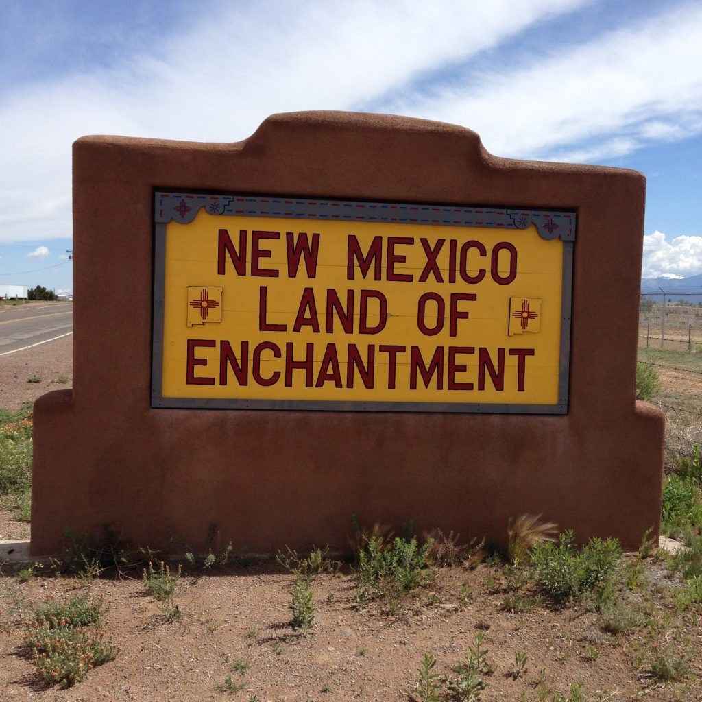 NEW MEXICO LAND OF ENCHANTMENT-highway sign